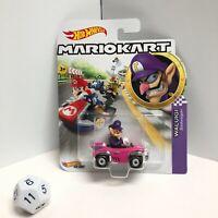 "Hot Wheels Mario Kart WALUIGI Diecast Car BADWAGON ""RARE "" VHTF!"