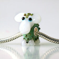 1pcs SILVER MURANO GLASS BEAD LAMPWORK Animal European Charm Bracelet DW363