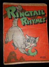RINGTAIL RHYMES * very scarce vintage children's book * E.W.K. AMBROSE