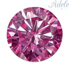 Loose Moissanite 6mm .75ct Pink Round Shape Certified USA