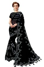 Indian Bollywood Style  Party Wear Women's Embroidery Designer Net Saree