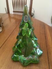 Fenton Art Glass Green Christmas Tree Large