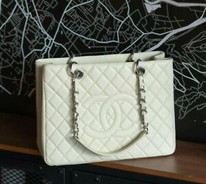 VERIFIED Authentic CHANEL Quilted Caviar Leather GST Grand Shopping Tote Bag