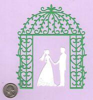 """Bride Die Cuts - Wedding Die Cuts - Bride and Groom Under Canopy - 5.5"""" x 5.5"""""""
