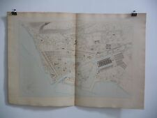 Atlas des ports de France / Plan du Havre - 1874, 97 x 67 cm - Très bel état.