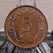 CIRCULATED 1964 5 ORE DENMARK COIN (020417)1