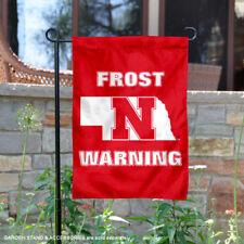 Nebraska Huskers Scott Frost Warning Garden Flag and Yard Banner