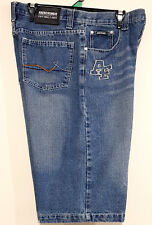 ABERCROMBIE & FITCH Mens Blue Fade Denim Wash Casual Wear Shorts Size 34