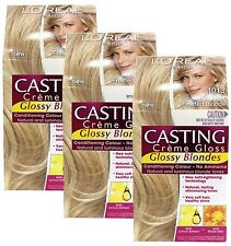 3 X L'OREAL CASTING CREME GLOSS HAIR COLOUR 1013 VERY LIGHT FROSTED BLONDE