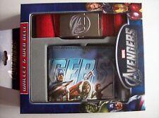 The Avengers BiFold Wallet & Web Belt Set Mens Signature Buckle Marvel NIB