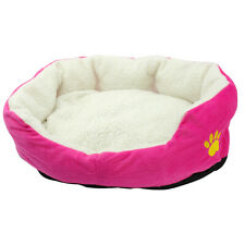 Soft Fleece Dog Sleeping Bed Mat Small Puppy Cat Round Sofa Cozy Cushion Kennel
