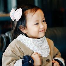 Cute Newborn Baby Scarf Bib Girl Boy Unisex Cotton Infant Toddler Handmade Eb220