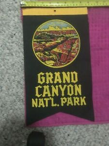 RARE GRAND CANYON VINTAGE SOUVENIR TRAVEL BANNER THIS IS NOT A PENNANT SHIP FAST