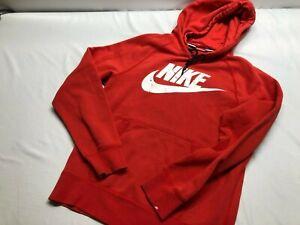 Nike Men's Small Long Sleeve Fleece Hoodie Sweatshirt  Red