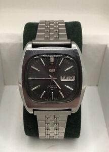 Seiko 5 Automatic Armbanduhr Herren Daydate 21 Jewels Ref. 7019-5000 *Vintage