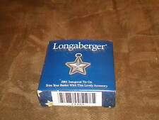 Longaberger 2001 Inaugural Basket Tie-On