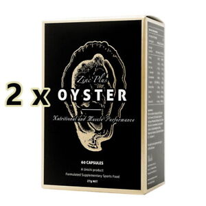 2 x New Unichi Zinc Plus Oyster Extract 60 Capsules