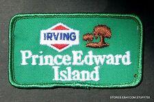 "PRINCE EDWARD ISLAND CANADA IRVING GAS PATCH TOURIST SOUVENIR 3 1/2"" x 2"""