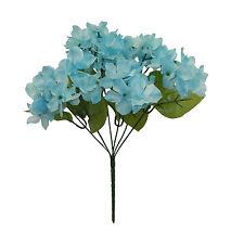 Hydrangeas x 6 Bouquet ~ MANY COLORS ~ Centerpieces Silk Wedding Flowers Bridal