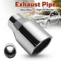 Stainless Steel Exhaust Tip Pipe 2.5'' Inlet 4'' Outlet Angle Cut Single Wall