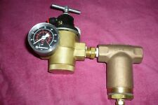 Norgren R43-406-Nnlg Regulator W/ Gauge & Spraying Systems 3/8 Tw Filter Brass
