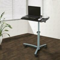 Angle Height Adjustable Rolling Laptop Desk Over Sofa Bed Notebook Table Stand