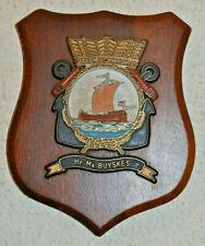 Hr Ms Buyskes plaque shield crest Dutch Navy Netherlands gedenkplaat HNLMS