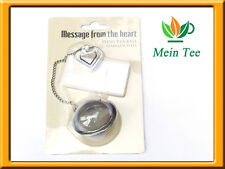 Teeball mit herzförmigen Notizhalter  Tee-Ei Teesieb Teefilter  Teezubehör