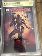 DEADPOOL #1 Marat Michaels Variant 2X SIGNED CBCS 9.4