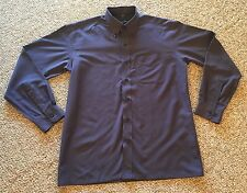 "Christian Dior Monsieur sz L-40cm-16"" dk purple l-sleeve buttondown dress shirt"
