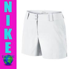 Women's Size 14 Nike Golf Dri-Fit Modern Rise Sporty Shorts White 618149 100