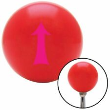 Pink Fancy Solid Directional Arrow Up Red Shift Knob with M16 x 1.5 Insert hemi