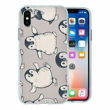 For Apple iPhone X Silicone Case Penguin Pattern - S346