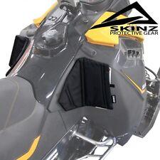 Skinz Pro-Series Black Console Knee Pads - 2013-2017 Ski-Doo Rev-XM XS Summit