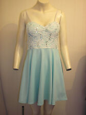 Gorgeous Green & Cream Sequin Top Dress from Cameo Rose, Size 12 - BNWOT!