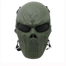 Green Tactical Military Wargame Paintball CS Field Equipment Airsoft Full Face