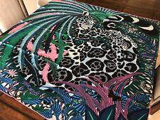 Hermes Carre NIB Stole Shawl Scarf Jaguar Quetzal Alice Shirley Cashmere Silk