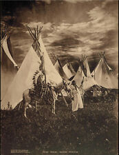 "Original 1909 photograph taken by George Bancroft Cornish, ""On the War Path""."