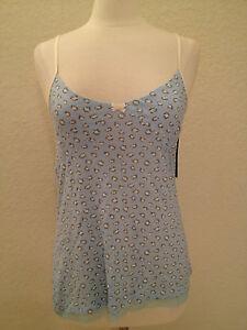 Tommy Hilfiger Cotton Blend Camisole Sleep Top  RH23S025   S M L XL Blue Beige