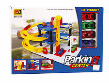 NEW TOY CAR PARK PARKING GARAGE TOY PLAY SET CHILDRENS CAR PARK TOY + 4 CARS