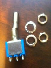Interruptor de palanca de bloqueo interruptor DPDT en-en componente de contacto AG Nuevo Sellado