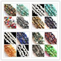 Natural Gemstone 5-8mm Chip Beads Lapis Hematite Turquoise Malachite Coral 32""