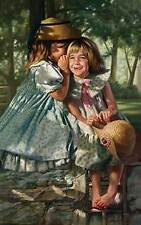 Bob Byerley S/N print-Little Girls-GIGGLES AND WHISPERS