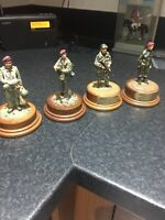 VINTAGE HAND PAINTED MODEL METAL SOLDIERS ON PLINTHS SIGNED ALAN SMITH 1987 RARE