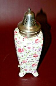 Vintage Midwinter Staffordshire English Floral Semi-Porcelain Muffineer Shaker