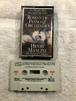 Romantic Piano & Orchestra-Henry Mancini CASSETTE TAPE-Tested Works