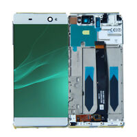 LIT LCD Touch Screen Digitizer Frame For Sony Xperia C6 XA Ultra F3211 F3213 WHT