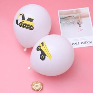 10 STÜCKE 12 Zoll Bagger Latex Gedruckt Ballons mit Bändern Party Decor