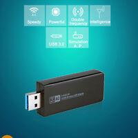 ADATTATORE USB PC 1200MBPS CHIAVETTA WIRELESS Internet WIFI Dual Band DONGLE