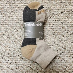 Timberland Outdoor Leisure Cushioned Men's Ankle Socks 4PK NWT